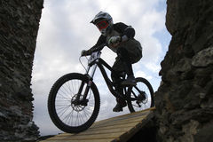 Ciclisti in mountain-bike Fotografia Stock