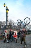 Ciclisti a Poltava Immagine Stock