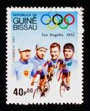 Ciclisti, serie dei giochi olimpici, circa 1983 Immagini Stock