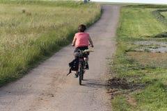 ciclisti su una pista ciclabile in campagna rurale tedesca del sud immagine stock