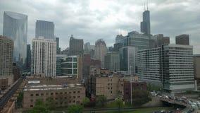 Ciclo ad ovest, Chicago, U.S.A. Lasso di tempo di ora di punta archivi video