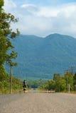 Ciclo alle colline Fotografie Stock