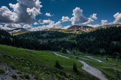 Ciclo alpino Colorado fotografia stock