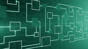 CICLO astratto del fondo del circuito elettronico di tecnologia illustrazione vettoriale