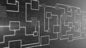 CICLO astratto del fondo del circuito elettronico di tecnologia royalty illustrazione gratis