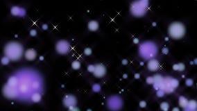 Ciclo astratto delle particelle porpora pastelli stock footage