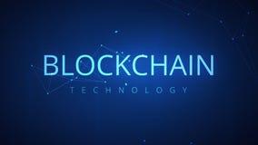 Ciclo astratto futuristico del fondo del hud di tecnologia di Blockchain video d archivio