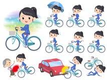 Ciclo azul del jersey_city de la colegiala libre illustration