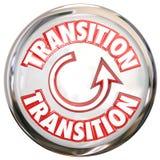 Ciclo bianco di processo del cambiamento dell'icona del bottone di parola di transizione Immagini Stock Libere da Diritti