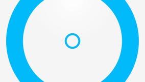 Ciclo blu dei cerchi, onde. Animazione illustrazione vettoriale
