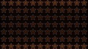 Ciclo brillante dell'arancia del portone delle stelle stock footage