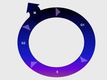 Ciclo celular Imágenes de archivo libres de regalías