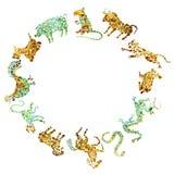 Ciclo chino del zodiaco Foto de archivo