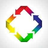Ciclo colorido de las flechas Foto de archivo