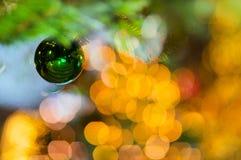 ciclo crepuscolare di giallo della palla del bokeh buble fotografie stock