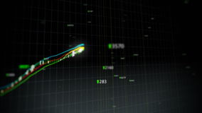 Ciclo crescente di indice di borsa illustrazione di stock