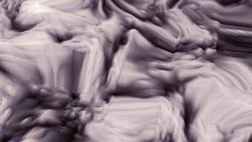 Ciclo cubico rosa luminoso futuristico astratto di animazione della superficie 3D illustrazione vettoriale