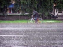 Ciclo da chuva Imagem de Stock Royalty Free