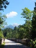 Ciclo de Kranjska Gora en Eslovenia al ¾ de TrbiÅ en Italia fotografía de archivo libre de regalías