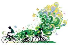Ciclo de la familia Imagen de archivo libre de regalías