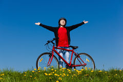 Ciclo de la muchacha Imágenes de archivo libres de regalías