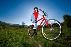 Ciclo de la muchacha Foto de archivo libre de regalías