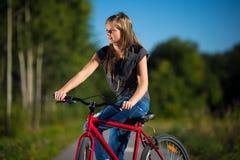 Ciclo de la muchacha Fotografía de archivo