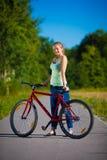 Ciclo de la muchacha Fotografía de archivo libre de regalías