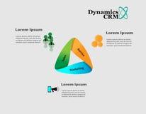 Ciclo de vida da dinâmica CRM ilustração royalty free