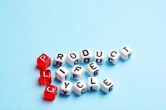 Ciclo de vida del producto del PLC Foto de archivo libre de regalías