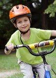 Ciclo del ciclista del niño Imagen de archivo libre de regalías