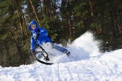 Ciclo del extremo de la nieve Foto de archivo libre de regalías