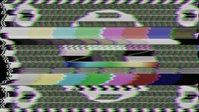 Ciclo del modello di prova della TV stock footage