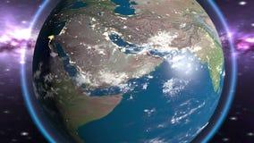 Ciclo del pianeta della terra video d archivio