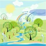 Ciclo dell'acqua Fotografia Stock