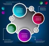 Ciclo di colore del cerchio di vettore del sistema Fotografia Stock Libera da Diritti