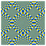Ciclo di rotazione di illusione ottica (vettore) Immagine Stock Libera da Diritti