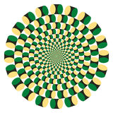 Ciclo di rotazione di illusione ottica (vettore) Immagini Stock