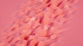 Ciclo di superficie geometrico poligonale astratto stock footage