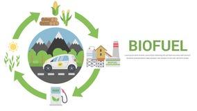 Ciclo di vita del combustibile biologico illustrazione vettoriale