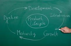 Ciclo di vita del prodotto Immagine Stock