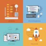 Ciclo di vita di software illustrazione di stock