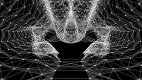 Ciclo di VJ - le reti di trasmissione di dati digitali del plesso sottraggono il fondo di moto illustrazione di stock