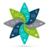 Ciclo do vetor infographic Conceito do negócio com 8 opções, porções, etapas ou processos Imagens de Stock