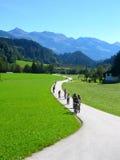 Ciclo en el país Imagen de archivo libre de regalías
