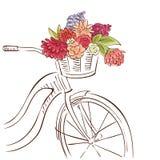 Ciclo en el parque ilustración del vector