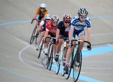 Ciclo en el velódromo de Calgary Fotos de archivo