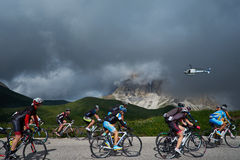 Ciclo en las montañas Foto de archivo