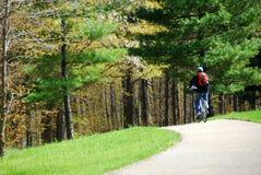 Ciclo en un parque Imagen de archivo
