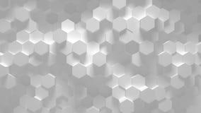 Ciclo geometrico astratto di esagono - animazione 3D illustrazione di stock